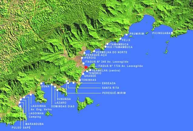 Mapa ubatuba